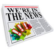 Nós estamos no artigo do título de jornal da notícia Fotografia de Stock Royalty Free