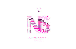 ns n s alphabet letter logo pink purple line icon template vecto Royalty Free Stock Photos