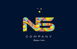 ns n s colorful alphabet letter logo icon template vector Stock Photography
