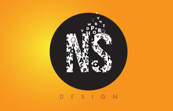 NS N S Logo Made of Small Letters with Black Circle and Yellow B Stock Photos