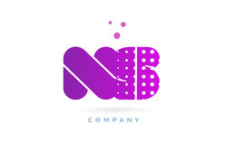 ns n s pink dots letter logo alphabet icon Stock Images