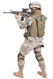 Nós soldado com rifle Fotografia de Stock Royalty Free