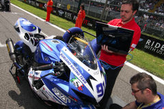 NS Suriano Corse Suzuki GSX-R 600  in Supersport championship WSS Stock Images
