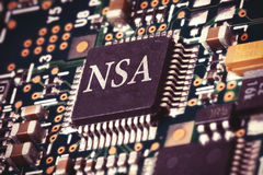 NSA计算机芯片 免版税图库摄影