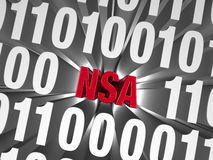 NSA Hiding in Computer Code Royalty Free Stock Image