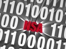 NSA se cachant en code informatique illustration de vecteur