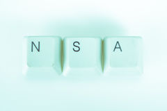 Nsa word written with computer buttons Royalty Free Stock Images