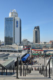 NSC Olimpiyskiy en la capital de Ucrania Fotos de archivo