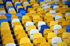 NSC Olimpiyskyi seats Royalty Free Stock Photos
