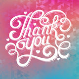 Nscription thank you Royalty Free Stock Images