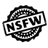 Nsfw rubber stamp. Grunge design with dust scratches. Effects can be easily removed for a clean, crisp look. Color is easily changed Royalty Free Stock Photography
