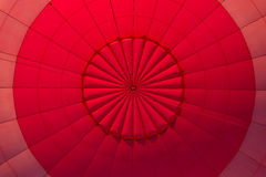 Nside a red hot air balloon Stock Images