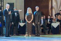 "Nsk, Belarus†""setembro 27,2015: John Gusenhoffer e Irina Loba Imagem de Stock"