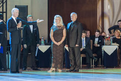 Nsk,Belarus–September 27,2015: John Gusenhoffer and Irina Loba Stock Image