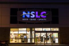 NSLC (Nova Scotia Liquor Corporation photographie stock