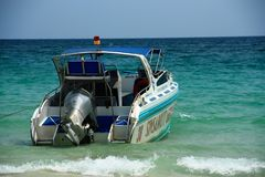 Speed ​​Boat with Sea stock photos