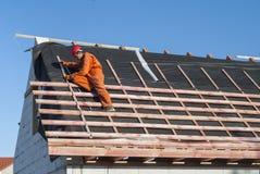 Nstallation eines Dachs Lizenzfreie Stockbilder