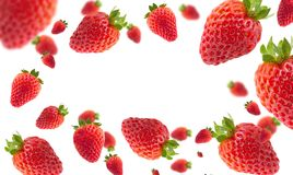Strawberries with effect. Nstrawberries with effect on white background for backgrounds, fresas con efecto Royalty Free Stock Photos