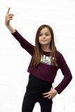 Näsvis tonåringflicka Royaltyfri Fotografi