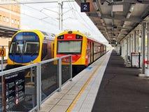 NSW政府火车,新堡互换,澳大利亚 免版税库存照片