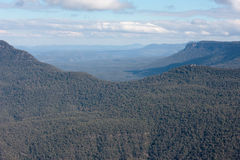 NSW的蓝山山脉,极光 免版税库存照片