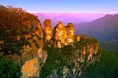 nsw горы Австралии голубое Стоковые Изображения