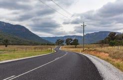风景农村路, NSW,澳大利亚 库存图片