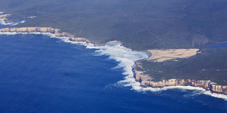 NSW aerial coastline pan Royalty Free Stock Photos