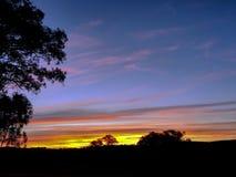 Nsw Australia del paese di tramonto Fotografia Stock Libera da Diritti
