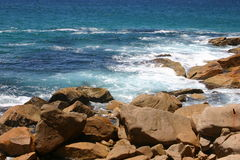NSW COASTLINE. Rocky coastline in New South Wales, Australia Royalty Free Stock Photography