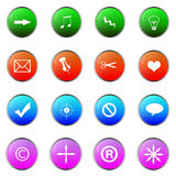 Nterface Icons. The Abstract colour buttons or icons for users Stock Image