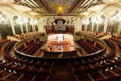 Nterior de Palau de la Musica Catalana em Barcelona Imagem de Stock Royalty Free