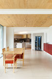 Nterior, dining room, kitchen view Stock Images