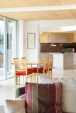 Nterior, dining room, kitchen view Royalty Free Stock Photography