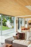Nterior, living room room, veranda view Royalty Free Stock Photo