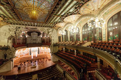 Nterior of Palace of Catalan Music in Barcelona Royalty Free Stock Photo