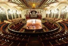 Nterior Palau De Los angeles Musica Catalana w Barcelona Obraz Royalty Free