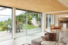 Nterior, sitio de la sala de estar, opinión del mirador Fotografía de archivo