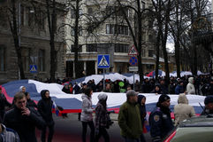 ?ntiauthority-Protest in Charkiw, Ukraine Stockbild