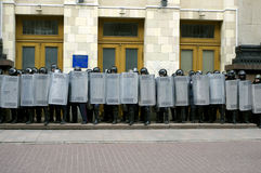 ?ntiauthority-Protest in Charkiw, Ukraine Lizenzfreies Stockfoto
