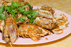 Ntis Shrimp fried garlic Royalty Free Stock Photography