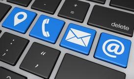 Éntrenos en contacto con concepto de Internet del sitio web Imágenes de archivo libres de regalías