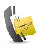 Éntrenos en contacto con diseño del ejemplo del teléfono Imagen de archivo libre de regalías