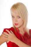 nätt blondin Royaltyfria Bilder