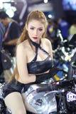 Nätt flicka i Bangkok den motoriska showen 2016 Arkivbilder