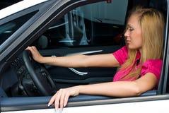 nätt kvinna för chaufför Royaltyfria Foton