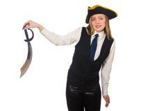 Nätt piratkopiera flickan Arkivbild