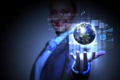 Nätverk för global affär Arkivfoto