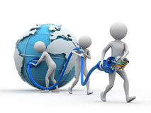 nätverk över hela världen Arkivbilder