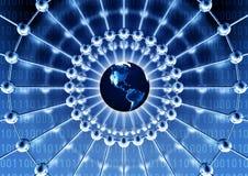 nätverk över hela världen Royaltyfria Bilder